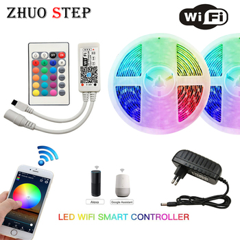 WIFI IR LED Strip Waterproof 5M 15M 20M RGB Led Strip Light Ribbon Tape Controller Adapter 5050 RGB 30 Leds /M Flexible Lighting