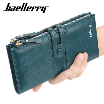 2020 Fashion Women Wallets Long Top Quality Leather Card Holder Classic Female Purse  Zipper Brand Wallet For Women
