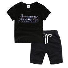 Little Boy Girl Anime Avengers Endgame Cotton T-Shirt Summer Kids Christmas Shirt Children Cartoon Toddler Tshirt Boys T