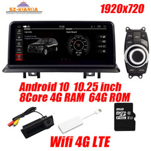 """10.25 """"Android 10 auto di navigazione gps per bmw e90 E91 E92 Wifi 4G Bluetooth Radio SD USB Sterzo ruota Idrive mappa Gratuita Della Macchina Fotografica"""