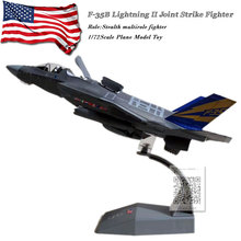 3pcs/lot AMER 1/72 Scale Military Model Toys USAF F-35B Lightning II Joint Strike Fighter Diecast Metal Plane Model Toy 1 72 scale hot small amer world war ii air craft plane fighter usaf 1953 lt 6g texan airplane diecast models toys for kid s boys