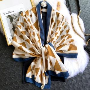 Image 1 - 2020 herbst winter frauen strand qualität schal baumwolle schal dame mode schals bandana pashmina wrap hijab muffler kostenloser versand
