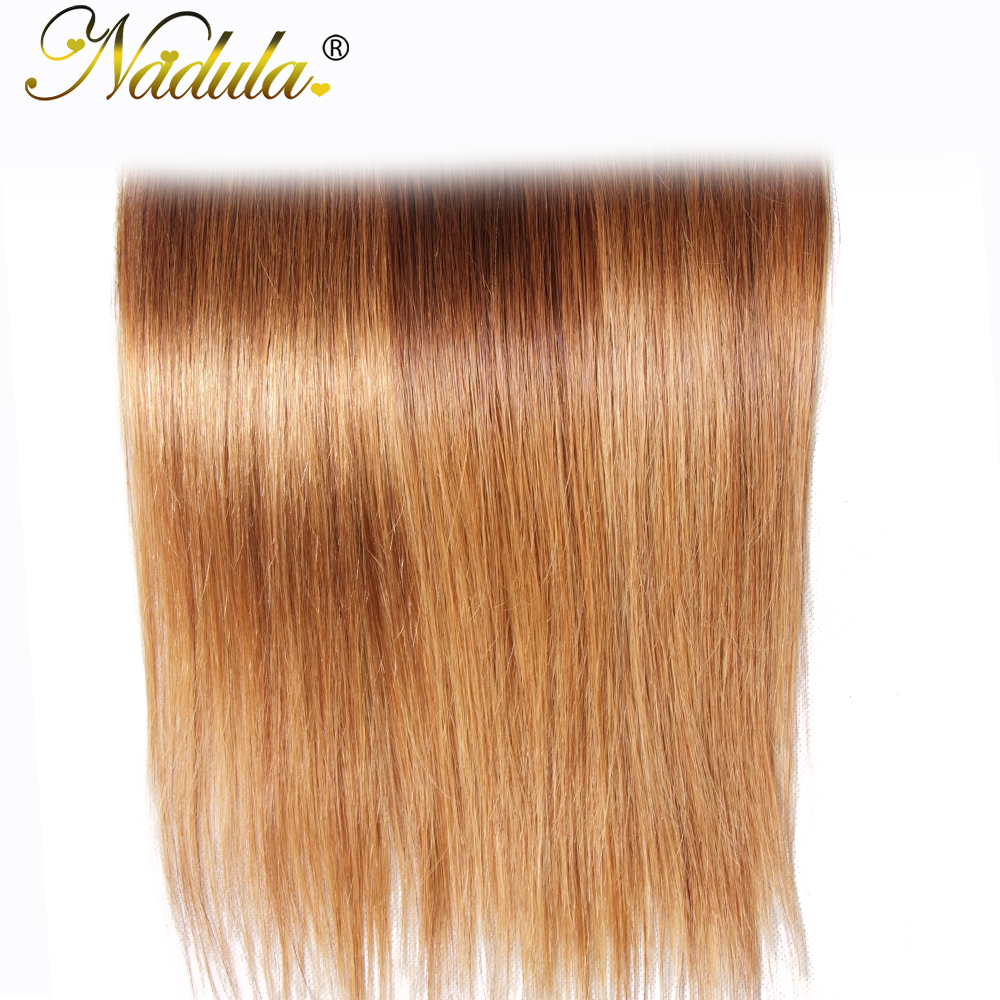 Nadula Hair 3 Bundles Straight Hair  Ombre Brown   1B/4/27 Ombre Hair Bundles 6