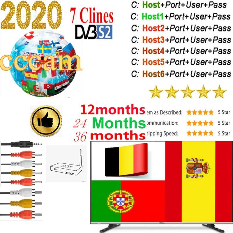 Cccam Europa  Server For 1 2 3 Year Europe Spain Portugal France DVB-S2 Freesat V7,V7S HD,V8 Super,V8 NOVA Satellite Receiver