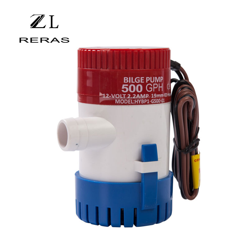 12V / 24V DC Submersible Pump Bilge Pump Cruise Ship Drainage Pump Marine Water Pump Floating Ball Large Flow Drainage