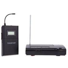 Hot Takstar WPM 200 UHF ระบบจอภาพไร้สาย 50 เมตรหูฟังชนิดใส่ในหูชุดหูฟังเครื่องส่งสัญญาณ