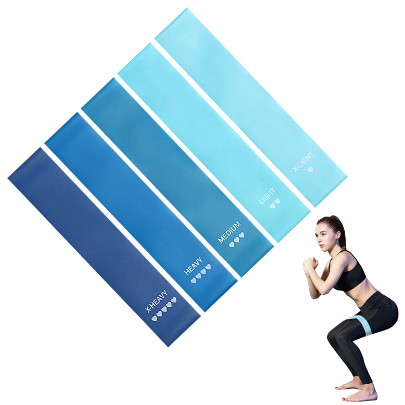 Natural Latex Resistance Bands in 5 to 40 LB as Pulling Equipment in Gym for Total Body Workout 9