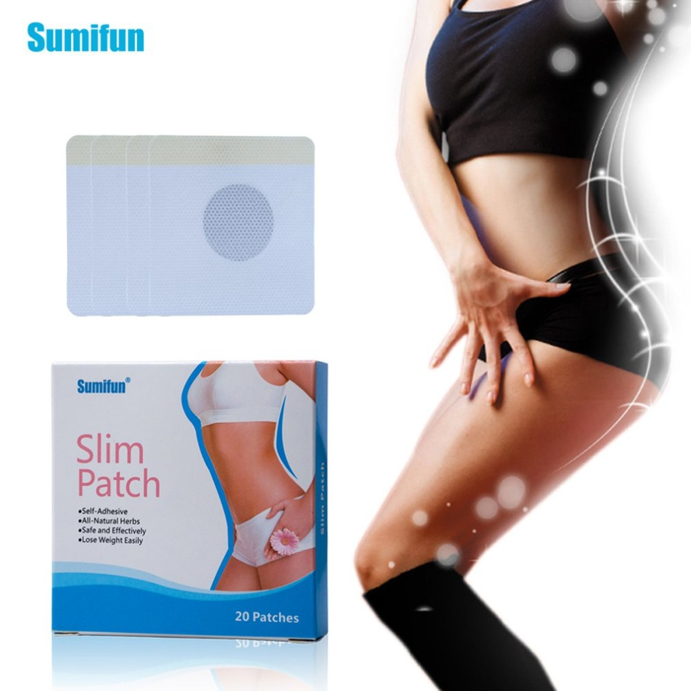20pcs Burning Fat Slimming Thin Paste Stickers Affixed Lazy Sleep Patches Lose Weight Fast Body Stress Relief Body Massage