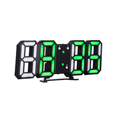 3D LED Digital Clock Electronic Alarm Clock USB Charging Desk Table Clock Wall Hanging Watch Glowing Clocks with Snooze Function