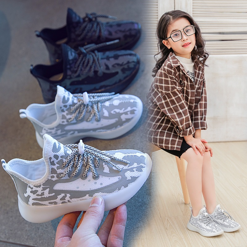 Children Luminous Shoes Girls Sneakers 2020 Boys Shoe Kids Mesh Glowing Sport Running Trainer Sneakers Girl Casual Shoes Boy