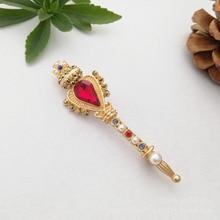 fashion retro Baroque Crown Cross small magic wand rhinestone brooch  christmas gifts for women