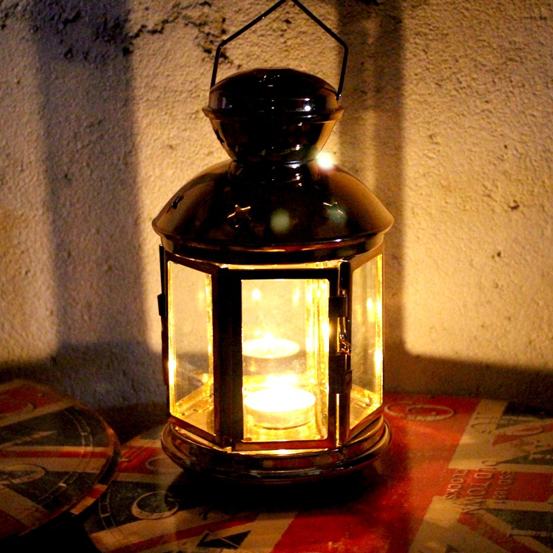 Europe Style Candle Holder Candlestick Lantern Windproof Candle Lantern Wedding Candle Stand Light Holder Hotel Decor 50XX091 in Candle Holders from Home Garden