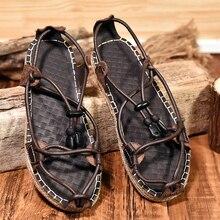 2020 Genuine Leather Non-slip Slippers Men Beach Sandals Comfortable Handmade Summer Shoes Men Slippers Classics Men Flip Flops