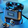 Наушники-вкладыши TWS Bluetooth наушники С микрофоном светодиодный Дисплей Беспроводной Наушники Hi-Fi мини-вкладыши Наушники гарнитуры HD вызова д...