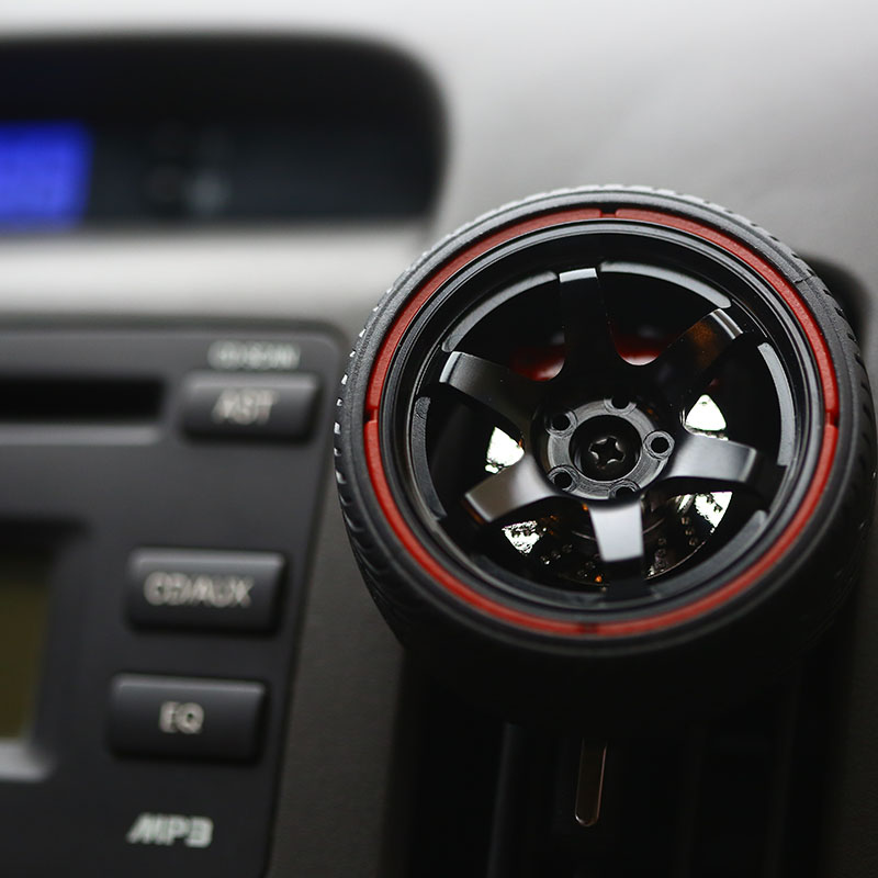 DIY JDM Style Te37 Wheel Rim Car Auto Alloy Metal Air Conditioning Conditioner AC Air Outlet Emblem Decoration Vent