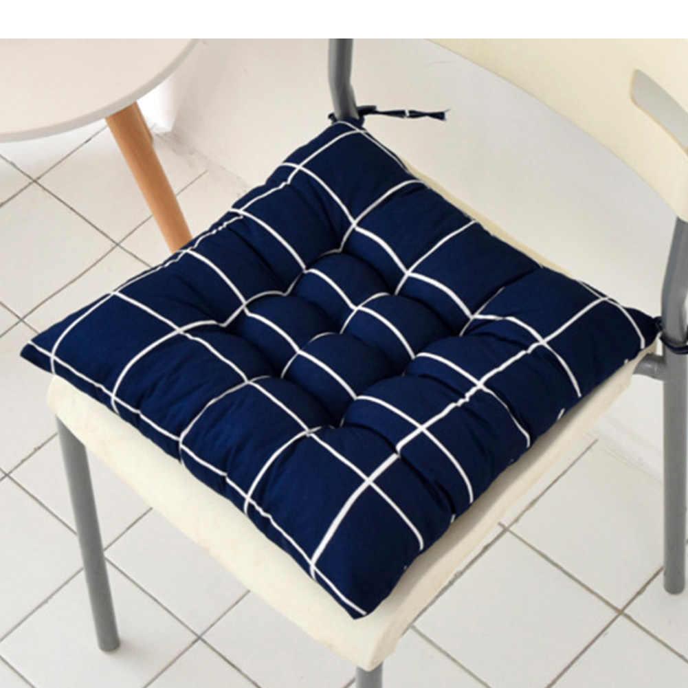 40x40cm miękki kwadratowy pasek poduszka siedziska poduszka pod plecy krawat na poduszka na krzesło poduszeczka samochodowa do domowego biura
