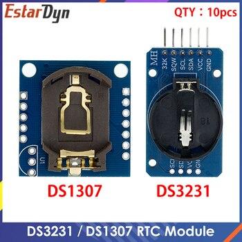 10 sztuk DS3231 AT24C32 moduł IIC DS1302 precyzyjny zegar moduł DS1307 pamięci Mini moduł w czasie rzeczywistym 3.3V/5V dla Raspberry Pi