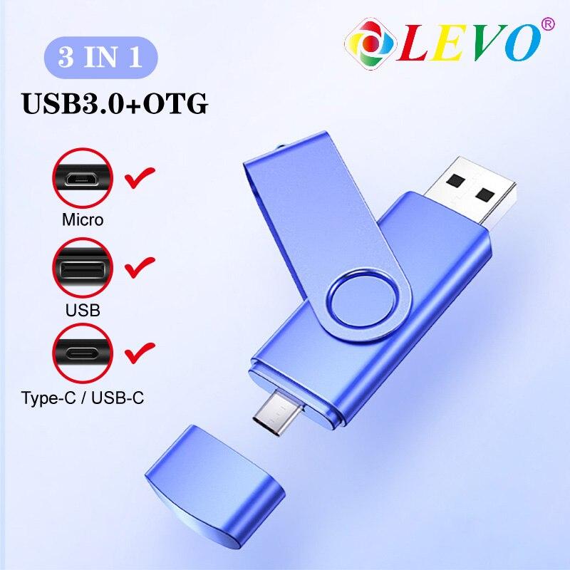 3 In 1 Otg Usb Flash 16GB 32GB 64GB 128gb Usb Flash Drive Memory Stick Pendrive Usb Flash Drive For Phone