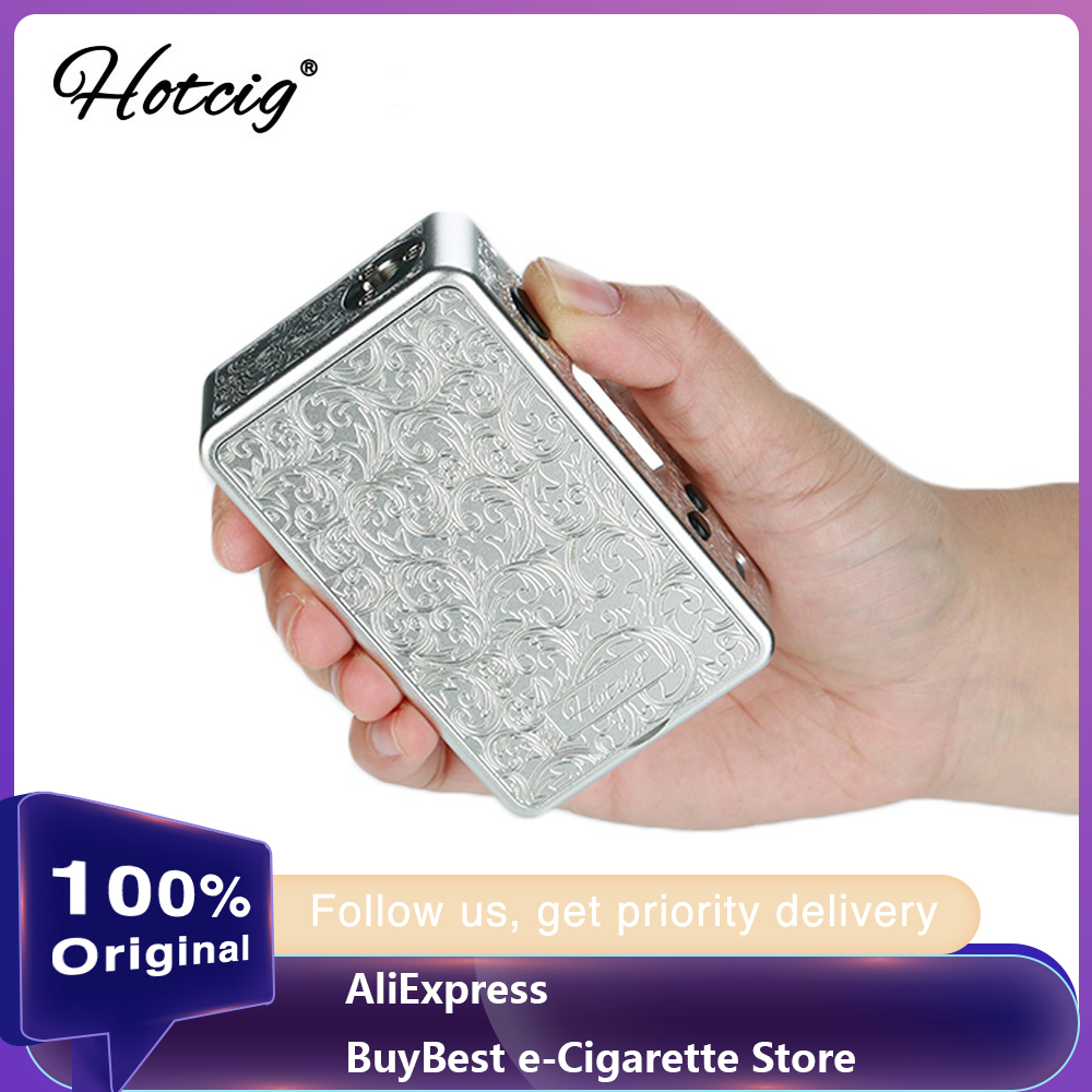 100% Original Hotcig R150S TC Box MOD With 0.96 Inch Colorful Screen & Waterproof HM Chip & Magnetic Panels Vape Mod VS Drag 2
