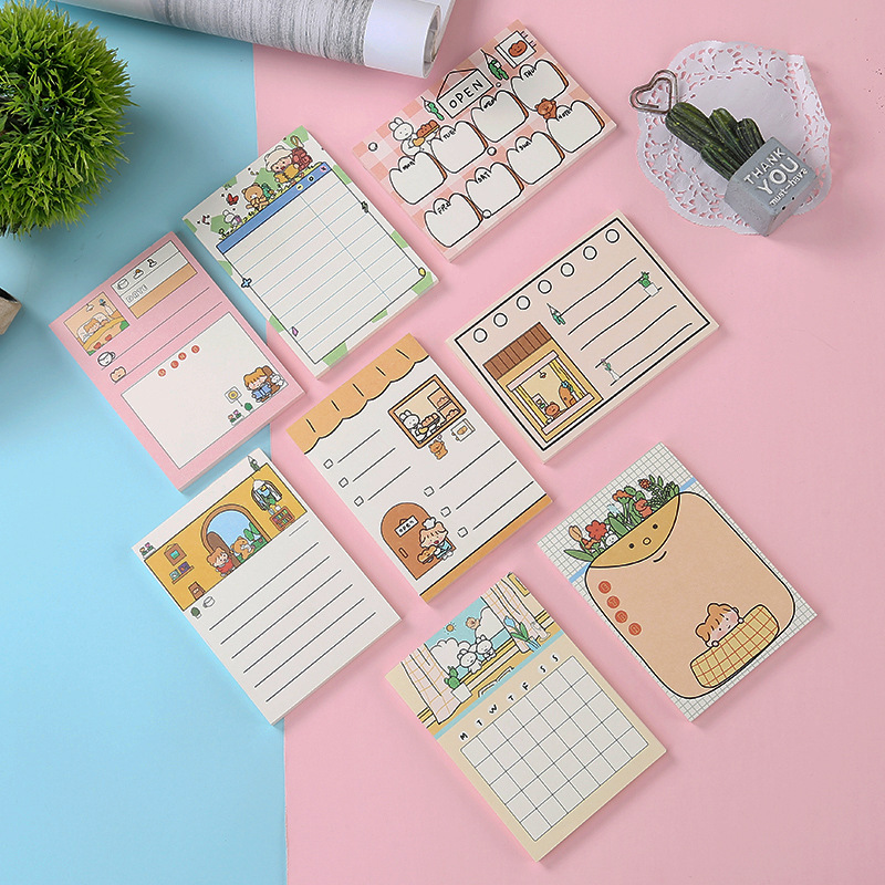 Enjoy Life With You Kawaii Weekly Planner To Do List Loose Leaf Memo Pad Notes Stationery School Supply Label