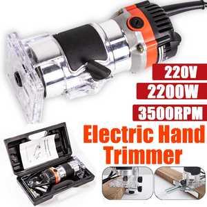 220 В 2200 Вт Электрический ручной триммер для дерева, ламинат, маршрутизатор 6,5 мм, деревообработка, обрезка, режущая машина, набор электроинст...