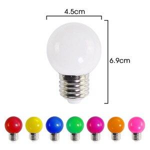 Image 4 - Led Bulb E27 led Lamp Bomlillas AC 220V 3W Colorful Globe Lampada 2835 SMD Led Light Flashlight 3W G45 Led Home lighting 20pcs