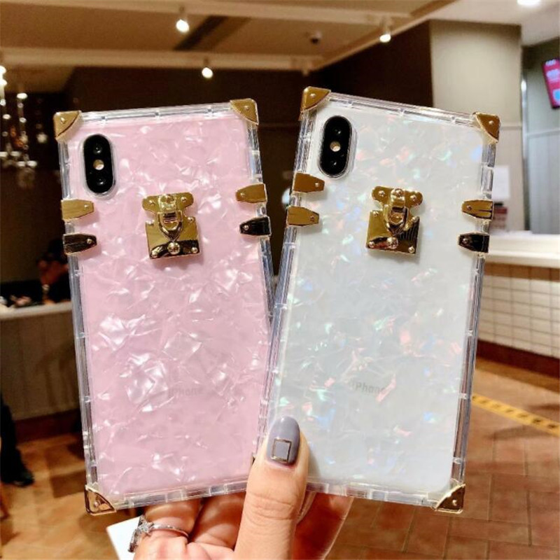 H65b15663bed54efb8c40e88de3ecc160N - Luxury Square Clear TPU Case For iPhone 11 Pro Max Soft Silicone Bling Phone Cover For iPhone X XS Max XR For iPhone 6 7 8 Plus