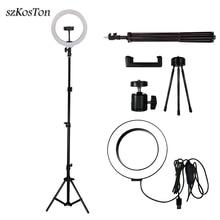 Led Selfie Ring Licht 26 Cm/16 Cm Camera Photo Studio Light Dimbare Fotografie Vulling Lamp Voor Live Video met Statief Telefoon Houder