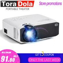 TORA DOLA Android 7.1OS проектор. Лучший светодиодный проектор HD. Мини домашний кинотеатр, разрешение 1280x720 1080P портативный 3D проектор TD01