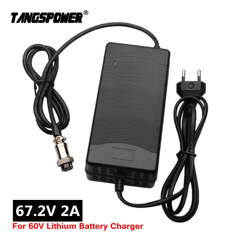 67 2V 2A Lithium Battery Charger for Wheelbarrow electric bike 16S 60V Li-ion Battery Charger High quality With cooling fan