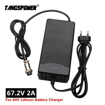 67.2V 2A Lithium Battery Charger for Wheelbarrow electric bike 16S 60V Li-ion Battery Charger High quality With cooling fan 67 2v 1 5a charger 60v 1 5a power adapter for 60v 16s lithium li ion e bike bicycle electric bike battery 3 prong inline