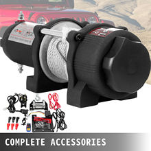 Electric Winch 12500LBS Electric Recovery Winch 12V Winch Recovery Kit With Wireless Remote Control (1360kg)