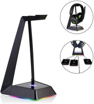 Stojak na słuchawki do gier z podświetleniem RGB do klawiatury, myszy i USB
