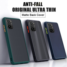 עור מרגיש רך סיליקון פגוש קשיח מחשב מט בחזרה מקרה מכסה עבור Xiaomi Pocophone Poko קטן Poco F3 F 3 5G 6.67 Coque Funda