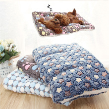 Soft Flannel Thickened Pet Soft Fleece Pad Pet Blanket Bed Mat For Puppy Dog Cat Sofa
