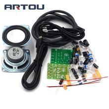 (Parts) small speaker DIY kit Transparent amplifier two-channel audio speaker sp