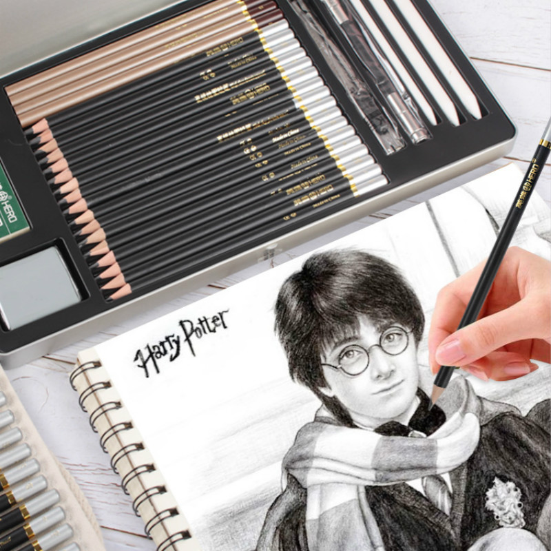 Sketch Pencil Set Charcoal Soft Medium Hard Adult Hand Drawing Painting Professional Stationery Supplies Office Beginner Student Colored Pencils Aliexpress
