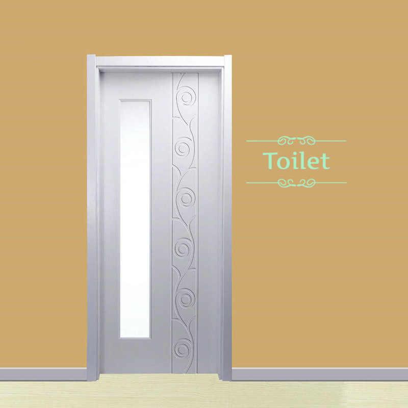 Lumineux toilette autocollant WC mur étanche porte signe lueur dans le noir Fluorescent affiche autocollants maison salle de bain toilettes autocollants