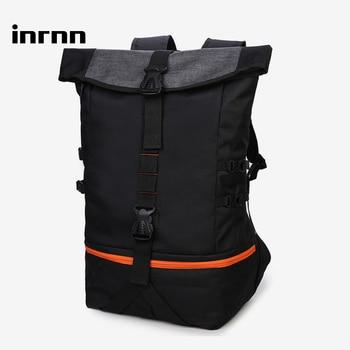 цена на inrnn Outdoor Basketball Sports Backpack for Teenager Large Capacity Men Laptop Backpack Fashion Travel Backpacks Male Mochila