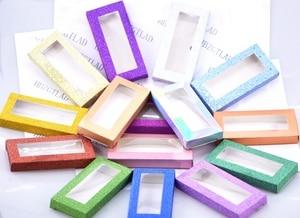 Image 3 - 20 set/lot Packing box for eyelash blank eyelashes package Multicolor paper box white tray 25mm Eyelashes DIY flash packing box