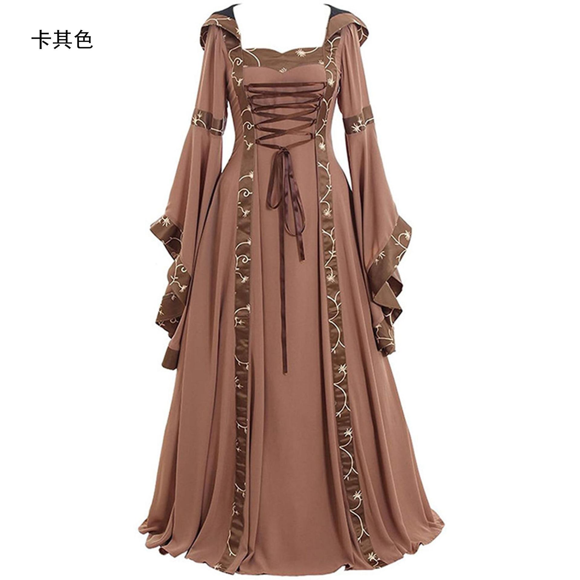 cosplay abad pertengahan istana putri gaun orang dewasa vintage pesta malam  gaun retro renaissance ekor kostum gaun plus ukuran kleid
