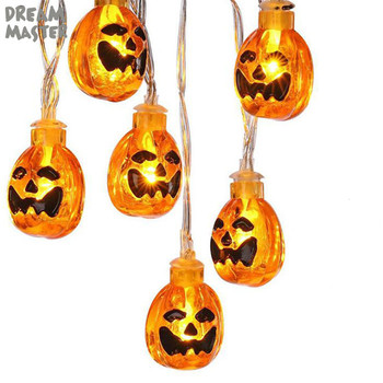 Outdoor Pumpkin String Lights 2m 20light Led Garland String Fairy Light 3 Modes Christmas Light Hall
