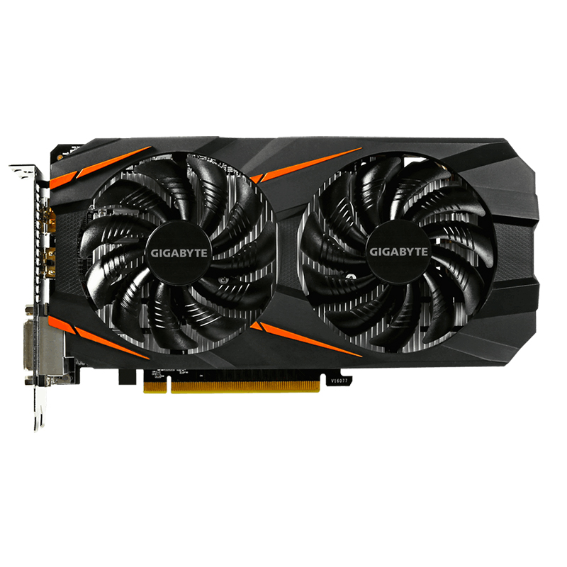Видеокарта Gigabyte GTX 1060 WINDFORCE OC 3G NVIDIA GeForce интегрирована с 3 ГБ GDDR5 192bit памяти для ПК б/у image
