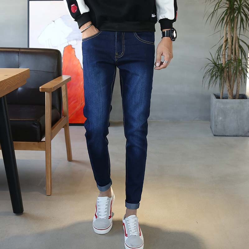 Jeans Men's Wear Slim Fit Pants Casual Skinny Pants Men's Trousers