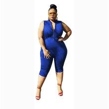 Sexy Bodysuit Rompers Streetwear High-Waist V-Neck Plus-Size Sleeveless Wholesale