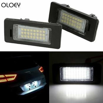 цена на 2 PCS License Plate Light  Led Number Plate Holder Lamp No Error For BMW E82 E88 E91 E90 E92 E93 M3 E39 E60 E61 E70 E71 E72 X6
