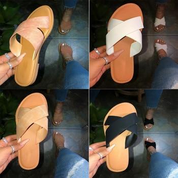 SAGACE New Summer Women Sandals Stitching Sandals Ladies Open Toe Casual Shoes Platform Wedge Slides Beach Woman Shoe 2020 11