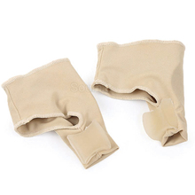 Soumit Separator palców stopy palucha koślawego podkładki do pielęgnacji ortopedycznej regulacja korekta ból stóp łagodzi rękaw wkładka skarpety tanie tanio ≤1cm Extrawide (e +) Wkładki Toe Separator Care Pads WOMEN Fabric Stałe Szybkoschnący Anti-śliskie Pot-chłonnym Oddychające