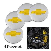 4 pçs carro roda centro tampa emblema adesivo para chevrolet equinox silverado trailblazer parafuso cruze captiva faísca tahoe z71 aveo ss