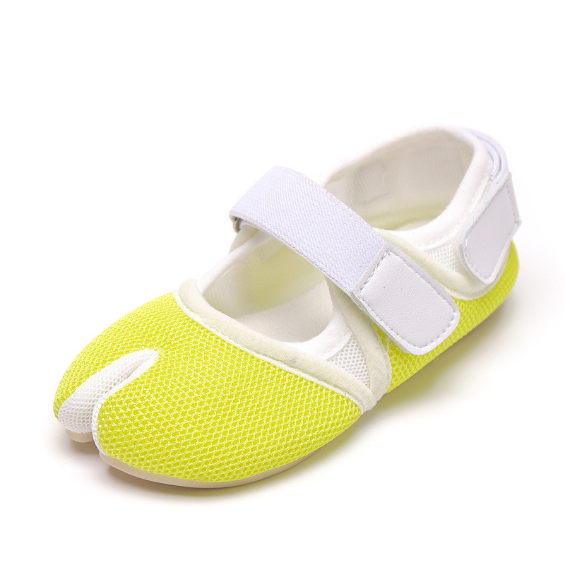2020 Children Magic Paste Net Divided Toe Personality Casual Shoes 201 Girls With Solid Color Kindergarten Comfortable Shoe